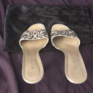 Authentic Gucci beaded mules/slides, 8.5 US